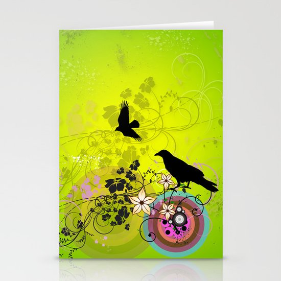 crow Stationery Card