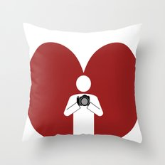 T-Shirt I Love Photography T-Shirt Throw Pillow