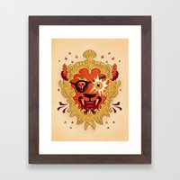 LION Framed Art Print