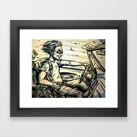 Run For The Border! Framed Art Print