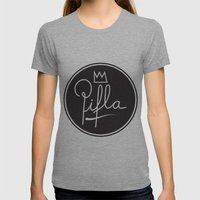 Logo Womens Fitted Tee Athletic Grey SMALL