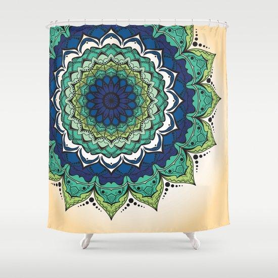 Mandala 20 20 Shower Curtain By Liz Slome