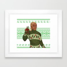 Very Merry Zevran Framed Art Print