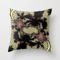 Leaf Fractal Throw Pillow