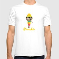 Pinocchio Mens Fitted Tee White SMALL