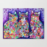 Candy cats Canvas Print