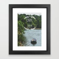 Carpe Diem - Seize the Day Framed Art Print