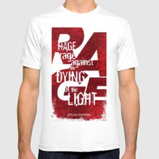Rage Against the Dying of the Light 1 SMALL White Mens Fitted Tee