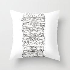 Giant Burger Throw Pillow