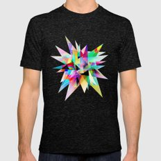 Colorful 3 Mens Fitted Tee Tri-Black SMALL