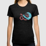 Vipera Color Womens Fitted Tee Tri-Black SMALL