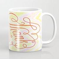 Thank you - hand lettered on chevron Mug
