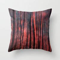 Magic Trees Throw Pillow