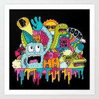 Dino Jam Art Print