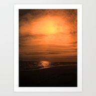 Great Moon Seascape Art Print
