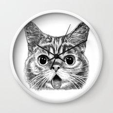 Tongue Out Cat Wall Clock