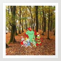 Robin Hood And The Gang Art Print