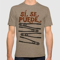Sí Se Puede Mens Fitted Tee Tri-Coffee SMALL