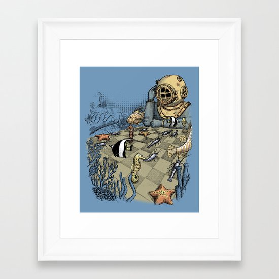 Deep Sea Chessmaster  Framed Art Print