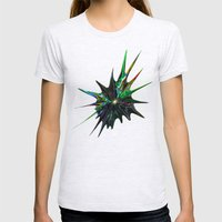 Fractal Splash Womens Fitted Tee Ash Grey SMALL