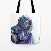 Melancholy Mood Portrait Tote Bag
