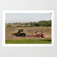 Iowa  Farming Art Print