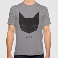 MEOW Mens Fitted Tee Athletic Grey SMALL