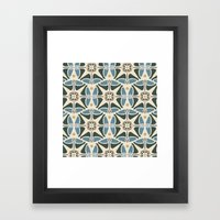 Blue Tulips - Circle Pattern Framed Art Print