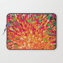 NEON SPLASH - WOW Intense Dash of Cheerful Color, Bold Water Waves Nature Lovers Modern Abstract  Laptop Sleeve