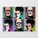 Mr. & Mrs. Frankenstein's Monster Canvas Print