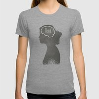 Think Womens Fitted Tee Tri-Grey SMALL