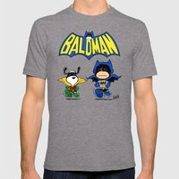 Baldman Mens Fitted Tee Tri-Grey SMALL