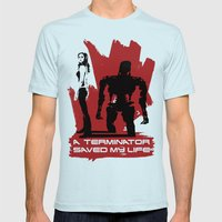 A Terminator Saved My Life Mens Fitted Tee Light Blue SMALL