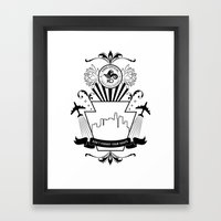 Don't Forget Your Roots (black) Framed Art Print