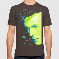 Bowie - White Duke Mens Fitted Tee Brown SMALL