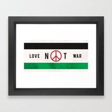 Love Not War 1 Framed Art Print
