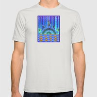 Sunrise on Bear Lake Mens Fitted Tee Silver SMALL
