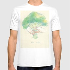 Broccoli bouquet White SMALL Mens Fitted Tee
