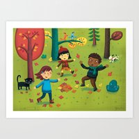 Fall Foliage Fun Art Print