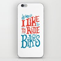 I Like to Ride Bikes iPhone & iPod Skin