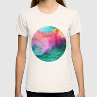 Staring At The Ceiling Womens Fitted Tee Natural SMALL