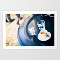 Espresso And Water Art Print