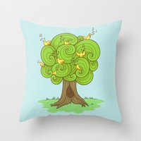 The Music Tree Throw Pillow