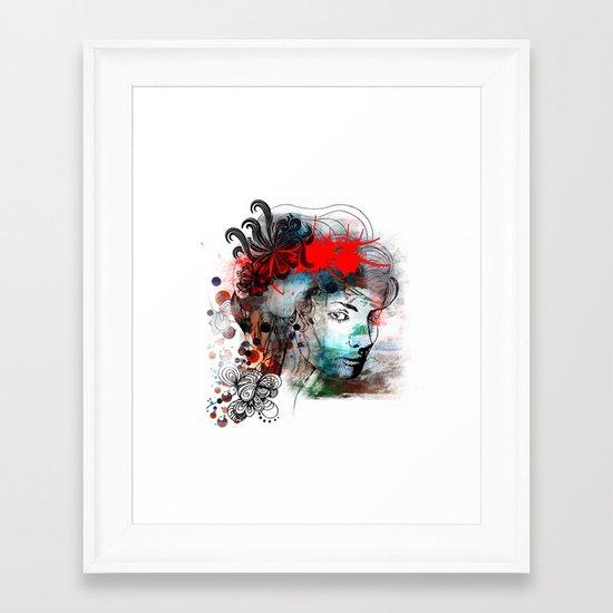 Red Framed Art Print