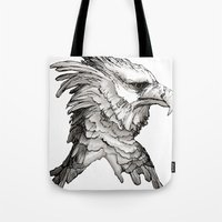Hawk Profile  Tote Bag