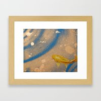 Lone Koi Framed Art Print