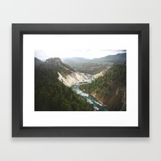 Carved River Framed Art Print