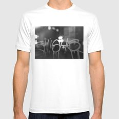 Paris Graphity SMALL Mens Fitted Tee White