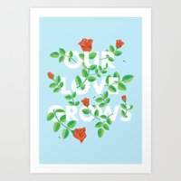 Our Love Grows Art Print