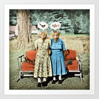 Two Cool Kitties: What's… Art Print